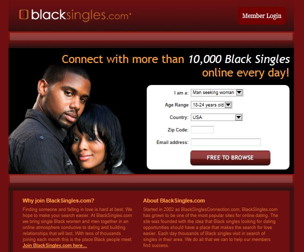 blacksingles dating sites Do you believe in dating online if the answer is yes, sign on this site and find love of your life or one night love affair.