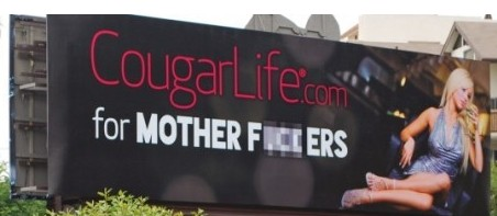 One of the most talked about ads from CougarLife dating site.