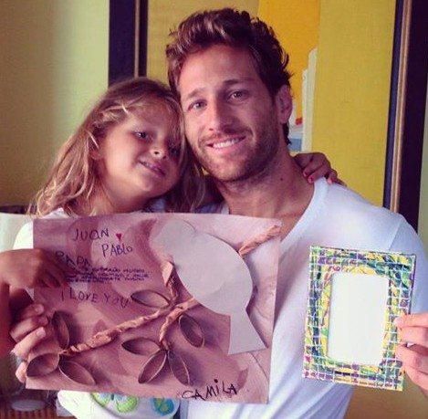 Juan Pablo Galavis the newly named Bachelor pictured with his daughter Camile