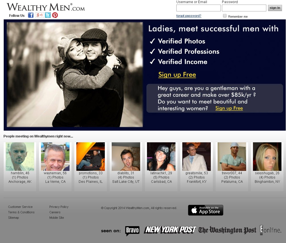 See what real past users of Wealthymen.com say about this dating site in our reviews.
