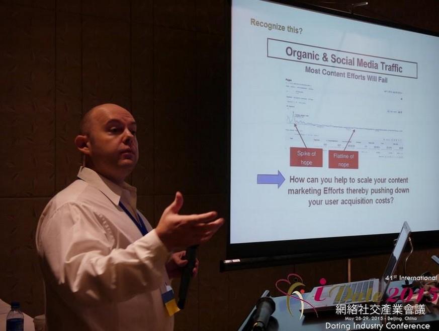 Jason Lee, CEO of Friends Date Network speaking at iDate Beijing