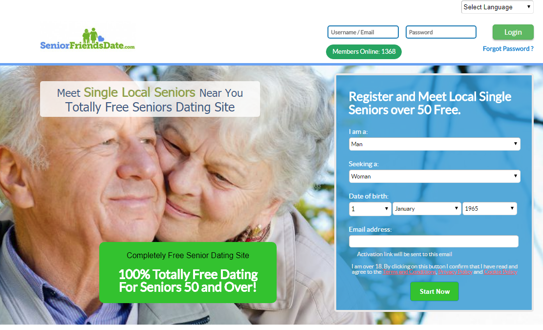 Totally free hookup sites for seniors over 50