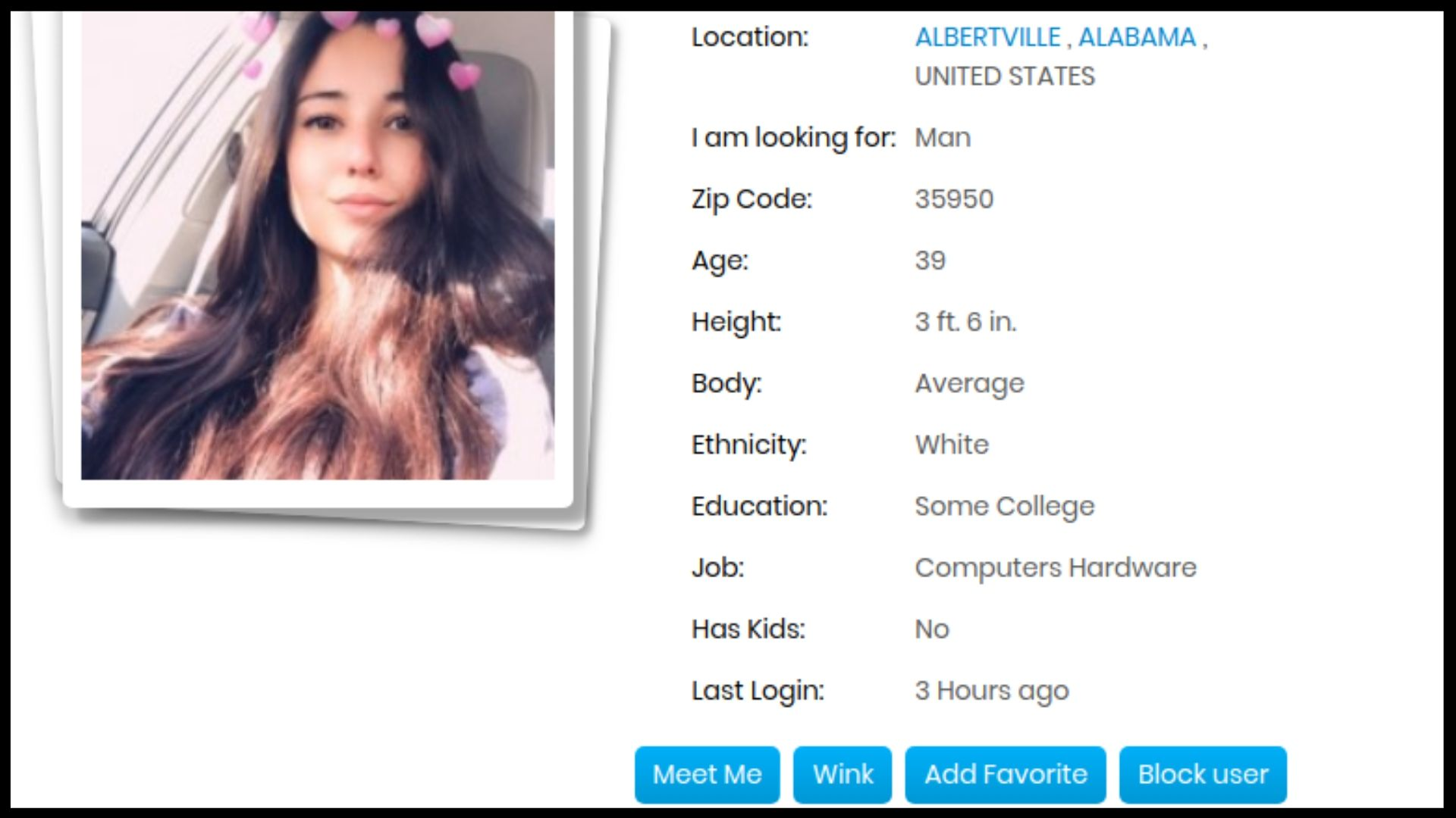 Free.Date Profile Features