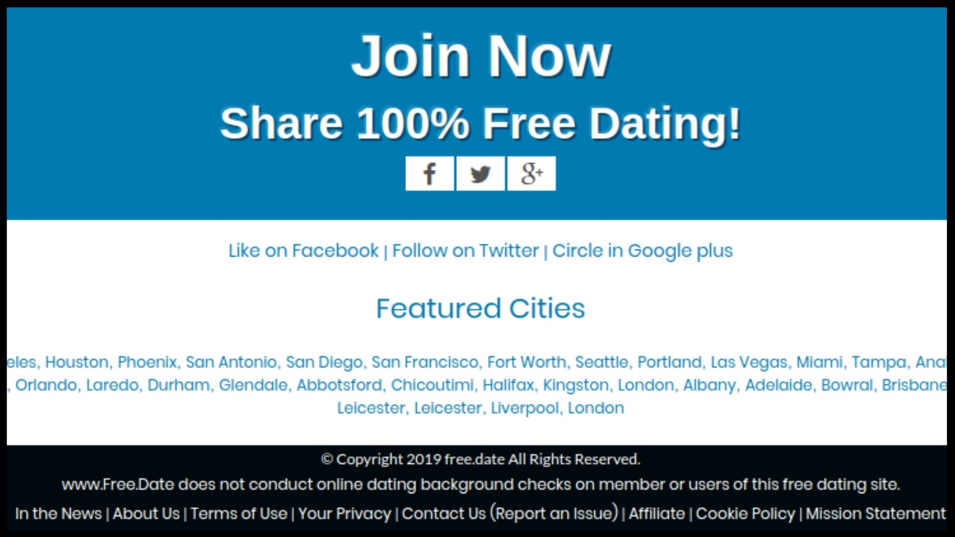 Free.Date Footer Section